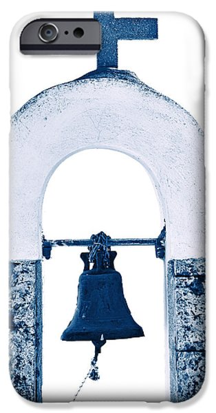 Bell iPhone Cases - Greek Chapel iPhone Case by Joana Kruse