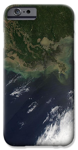 Gulf Oil Spill, April 2010 iPhone Case by NASA
