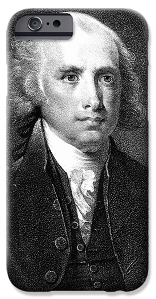 JAMES MADISON (1751-1836) iPhone Case by Granger