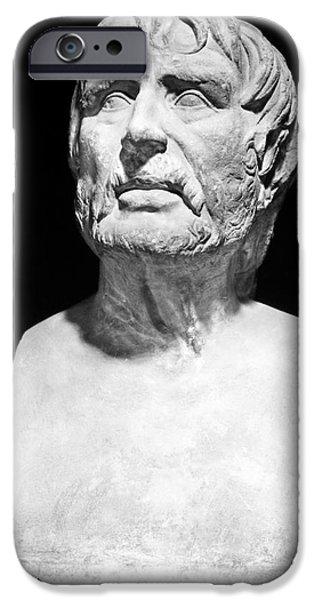 Statue Portrait iPhone Cases - Lucius Annaeus Seneca iPhone Case by Granger