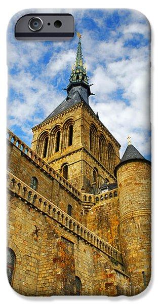 Abbey iPhone Cases - Mont Saint Michel iPhone Case by Elena Elisseeva