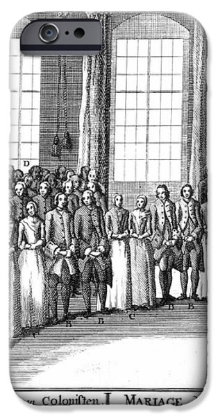 MORAVIANS, 1757 iPhone Case by Granger