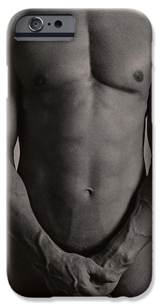 Disorder iPhone Cases - Nude Man iPhone Case by Cristina Pedrazzini