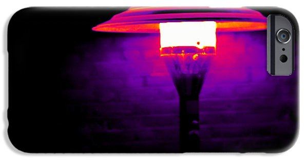 Electrical Equipment iPhone Cases - Patio Heater, Thermogram iPhone Case by Tony Mcconnell