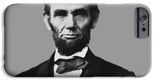 American History Mixed Media iPhone Cases - President Lincoln iPhone Case by War Is Hell Store