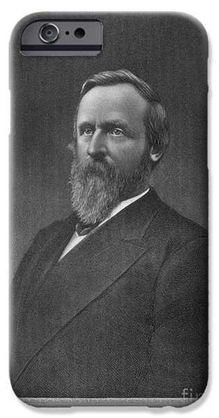 President iPhone Cases - Rutherford B. Hayes iPhone Case by Granger