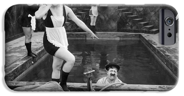 Bathing iPhone Cases - Silent Still: Bathers iPhone Case by Granger