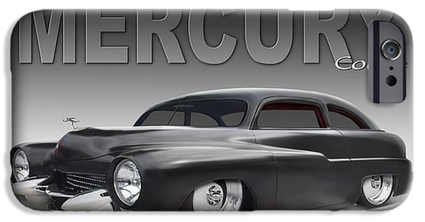 1950 iPhone Cases - 50 Mercury Coupe iPhone Case by Mike McGlothlen
