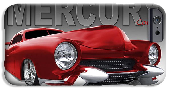 1950 iPhone Cases - 50 Mercury Lowrider iPhone Case by Mike McGlothlen