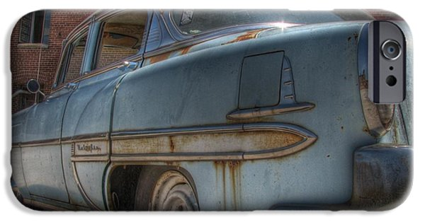 Rusted Cars iPhone Cases - 52 Chevy Bel Air iPhone Case by Jane Linders