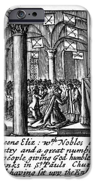 St Elizabeth iPhone Cases - Spanish Armada, 1588 iPhone Case by Granger