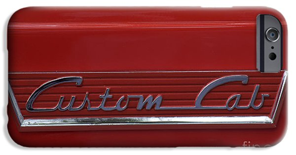 1956 Ford Truck iPhone Cases - 56 Ford F100 Custom Cab iPhone Case by Gwyn Newcombe