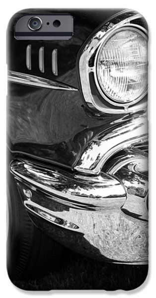 57 Chevy Black iPhone Case by Steve McKinzie