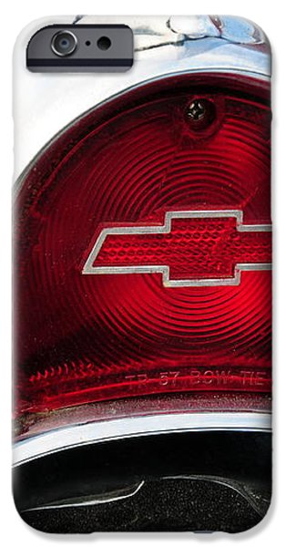 57 Chevy tail light iPhone Case by Paul Ward