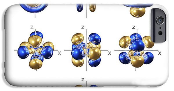 Electron Orbital iPhone Cases - 5f Electron Orbitals, Cubic Set iPhone Case by Dr Mark J. Winter