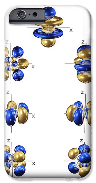 Electron Orbital iPhone Cases - 5f Electron Orbitals, General Set iPhone Case by Dr Mark J. Winter
