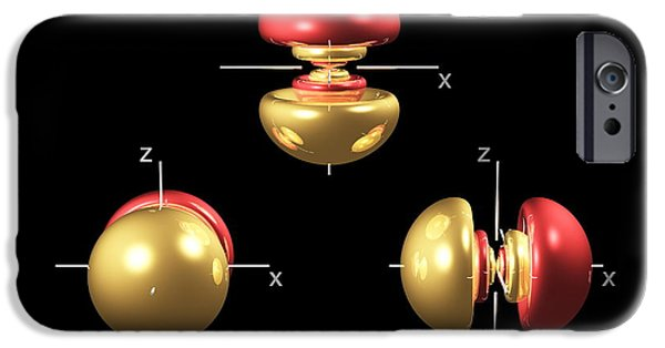 Electron Orbital iPhone Cases - 5p Electron Orbitals iPhone Case by Dr Mark J. Winter