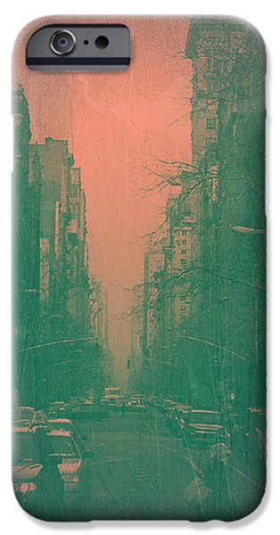 Sign iPhone Cases - 5th Avenue iPhone Case by Naxart Studio