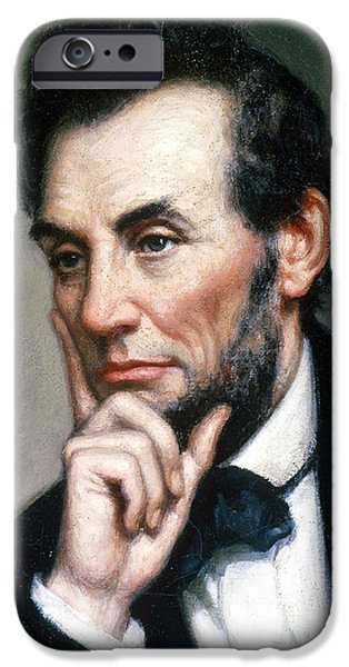Politician iPhone Cases - Abraham Lincoln 16th American President iPhone Case by Photo Researchers