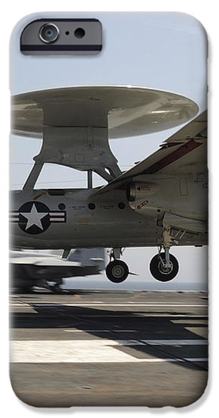 An E-2c Hawkeye Lands Aboard iPhone Case by Stocktrek Images