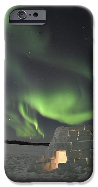 Aurora Borealis Over An Igloo On Walsh iPhone Case by Jiri Hermann