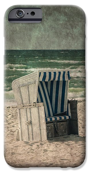 North Sea iPhone Cases - Beach Chair iPhone Case by Joana Kruse