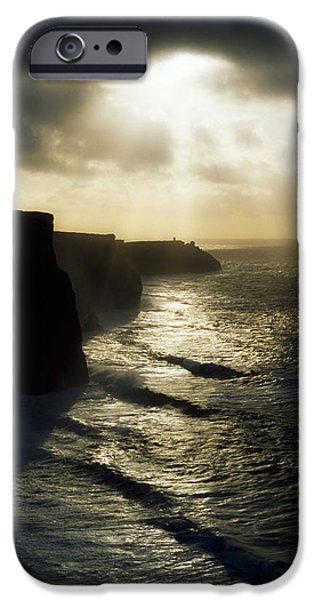 Cliffs Of Moher, Co Clare, Ireland iPhone Case by The Irish Image Collection