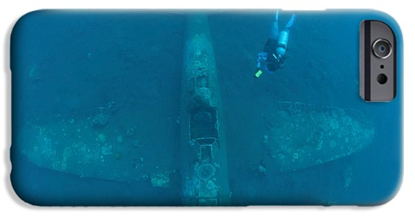 Recently Sold -  - World War One iPhone Cases - Diver Explores The Wreck iPhone Case by Steve Jones