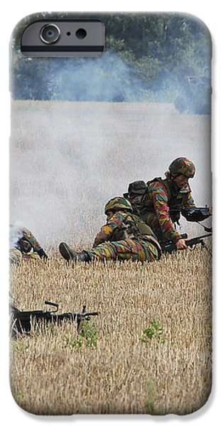 Evacuation Of A Wounded Soldier By An iPhone Case by Luc De Jaeger