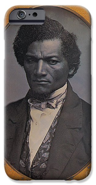 Slavery Abolition iPhone Cases - Frederick Douglass, African-american iPhone Case by Photo Researchers