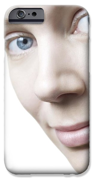Healthy Woman's Face iPhone Case by