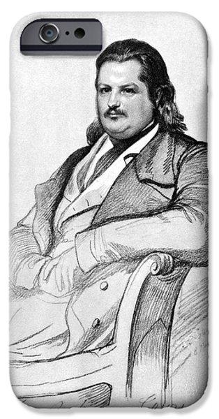 HONORE de BALZAC (1799-1850) iPhone Case by Granger