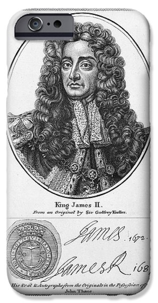 Autographed iPhone Cases - James Ii (1633-1701) iPhone Case by Granger
