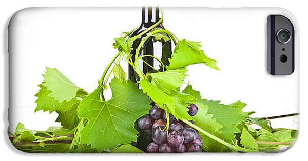 Wine Bottles iPhone Cases - Red wine iPhone Case by Joana Kruse