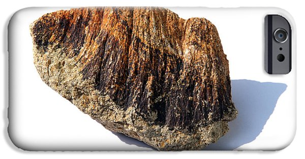 Shatter Cone iPhone Cases - Rock From Meteorite Impact Crater iPhone Case by Detlev Van Ravenswaay