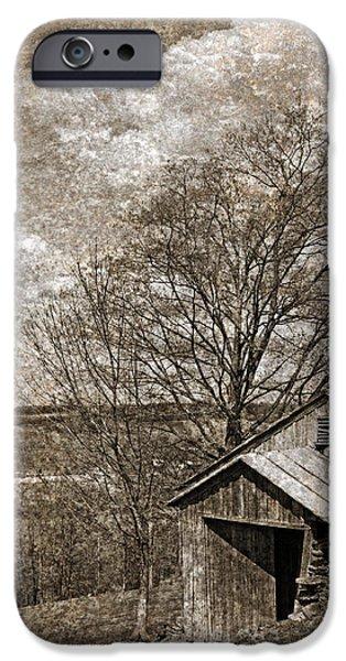 Rustic Hillside Barn iPhone Case by John Stephens