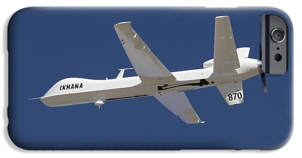 Aeronautics iPhone Cases - The Ikhana Unmanned Aircraft iPhone Case by Stocktrek Images