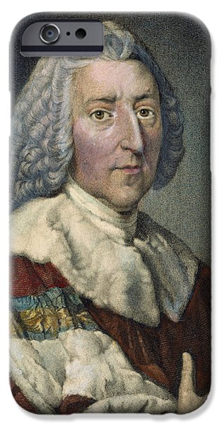 Chatham iPhone Cases - William Pitt (1708-1778) iPhone Case by Granger