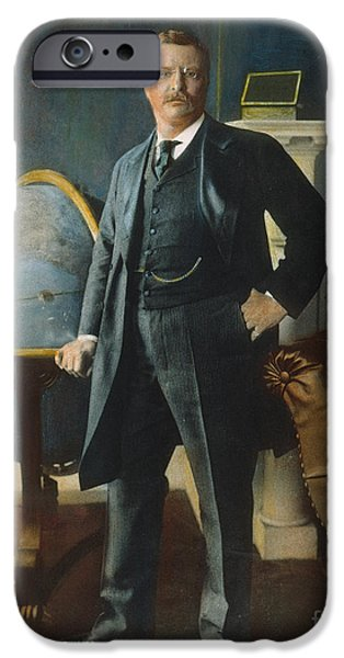 The White House Photographs iPhone Cases - Theodore Roosevelt iPhone Case by Granger