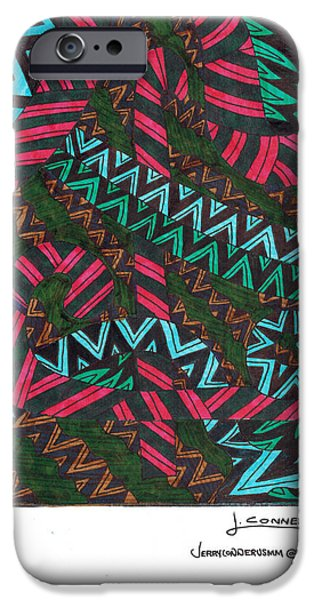 Abstract iPhone Cases - Untitled iPhone Case by Jerry Conner