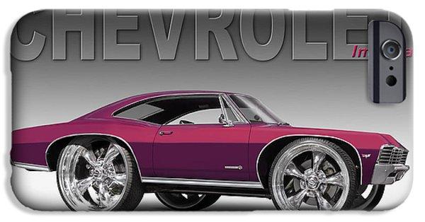 Cruiser iPhone Cases - 67 Chevrolet Impala iPhone Case by Mike McGlothlen