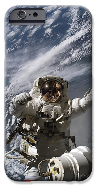 Astronaut Participates iPhone Case by Stocktrek Images