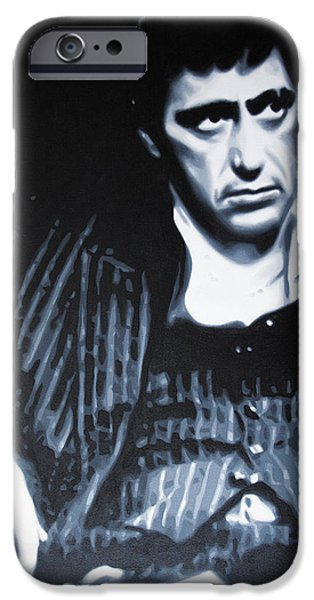 Drug Cartel iPhone Cases - - Scarface - iPhone Case by Luis Ludzska