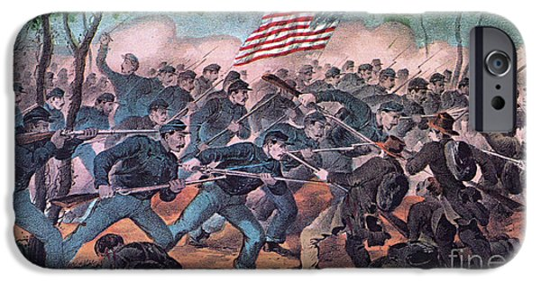 Bloody Battle iPhone Cases - American Civil War, Battle iPhone Case by Photo Researchers