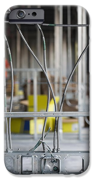 Electrical Equipment Photographs iPhone Cases - Commercial Building Under Construction iPhone Case by Don Mason