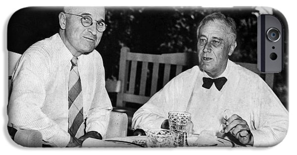 Democratic Party iPhone Cases - Franklin D. Roosevelt iPhone Case by Granger