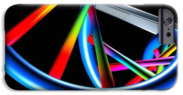 Tweezers iPhone Cases - Genetic Research iPhone Case by Pasieka