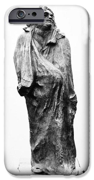 Statue Portrait iPhone Cases - HONORE de BALZAC (1799-1850) iPhone Case by Granger