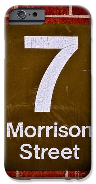 7 Morrison Street iPhone Case by Shutter Happens Photography