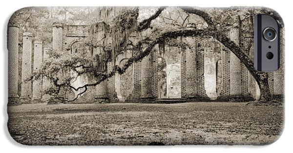 Ruin iPhone Cases - Old Sheldon Church Ruins iPhone Case by Dustin K Ryan
